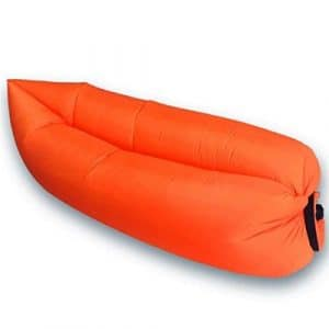 Canapé gonflable portable orange – Plage & Jardin