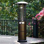 Habitat et Jardin – Parasol chauffant Relax 2 – 10.5 kW – Bronze