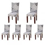 6 x Housse de Chaise SindeRay Universelle Extensible pour Décoration de Chaise Moderne (B)