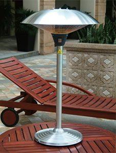 Favex 8522067 Milan Parasol Chauffant de Table Electrique Inox 60 x 60 x 106 cm