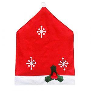 Hoomall 1PC Motif Flocon de Neige Housse de Chaise Chapeaux de Noël Fête Décoration pr Cuisine Maison 63.5cmx48.5cm