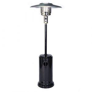Parasol chauffant OSLO – chauffage d'extérieur gaz – acier noir