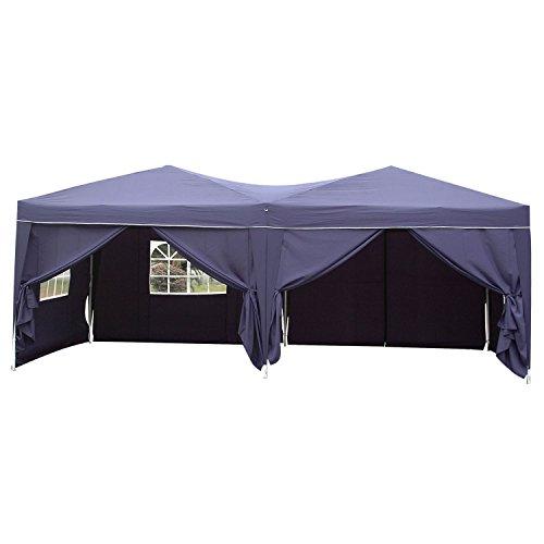 Befied Tente de Réception Résistance Pliante Imperméable avec Couverture en Tissu et Ancrage au Sol 3×6 m (Violet)