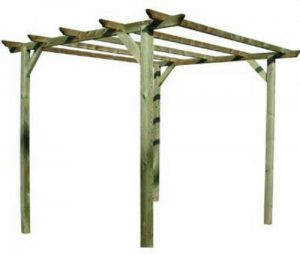Blinky Pergola en pin traitement autoclave, 3 x 3x (H) 2,4 mètres
