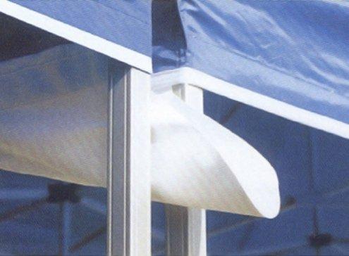 INTEROUGE Gouttière 3m 300g/m² Blanc avec velcro pour tentes pliantes tonnelles barnums