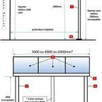 Pergola en aluminium Top Prix adossée toiture en polycarbonate 10 mm avec gouttière – Blanc – 3x3m