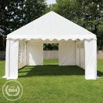 Tente Barnum de Réception 3×4 m ECONOMY Bâches Amovibles PVC 500 g/m² blanc / Jardin Tonnelle Pavillon Chapiteau