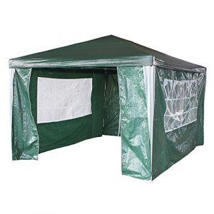 Anaelle Pandamoto Tonnelle Tente de Réception Pavillon du Jardin Extérieure Chapiteau Barnum Etanche PE Couvert, Taille 4x3x2.5m, Poids: 8kg (Vert)