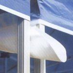 INTEROUGE Gouttière 4m 300g/m² Blanc avec velcro pour tentes pliantes tonnelles barnums
