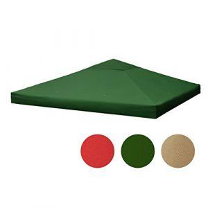 Sekey Canopée pour Tonnelles/Tonnelle tente/pavillon de jardin,vert,Revêtement étanche, avec ventilation, 3 x 3 m