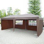 Tonnelle barnum tente de réception pliante 3 x 6 m chocolat + sac de transport 83