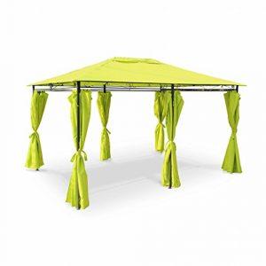 Alice's Garden – Tonnelle 3 x 4 m – Nicae – Toile verte – Pergola avec rideaux, tente de jardin, barnum, chapiteau, réception