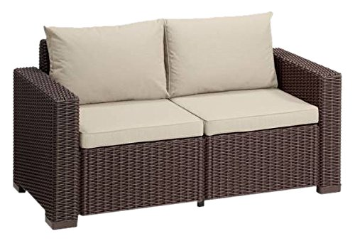 Allibert California Canapé lounge, 2 places 141 x 68 x 72 cm braun/ panama taupe