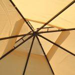 Tonnelle barnum style colonial 3 x 3 x 2,7 m double toit 4 toiles latérales avec zip beige et noir neuf 33