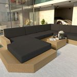 NATIVO© Canapé lounge de jardin MESIA XXL V1