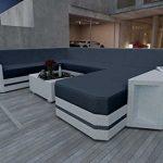 nativo© Designer Canapé lounge de jardin en rotin Canapé lounge Aventador Outdoor XXL V2