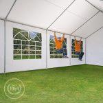 Tente de réception 5×10 m pavillon blanc bâche PE épaisse de 180 g/m² imperméable tente de jardin