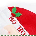 Thème de Noël Accessoires de fête Intéressant cadeaux Thème Hôtel Décoration Housse de chaise salle à manger 1pcs, Santa Claus, 60*50cm