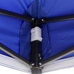 Tonnelles toutes saisons, choix de couleurs, 2x2m robuste, entièrement imperméable, en PVC enduit, Tonnelle Premium Pop Up, + sac de transport sur roues et 4 sacs de poids pour les pieds (Bleu Royal)