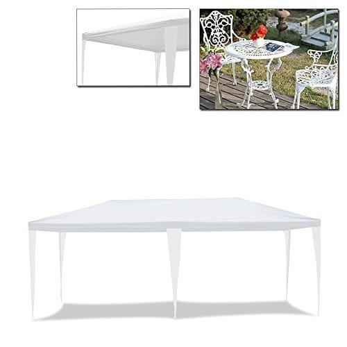 HG® Tonnelle Tente pavillon de jardin 3 x 6 m Chapiteau Tente étanche SG tubes d'acier stable de haute qualité Tente jardin camping Weiß