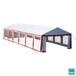 CASASMART Tente de Jardin Rouge et Blanc 6 X 12 m CS1600111