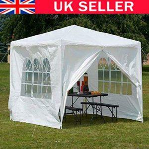 SiKy Tente de Mariage imperméable Amovible Blanc 3 x 3 x 2,5 m