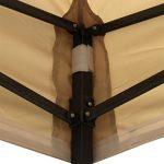 AllSeasonsGazebos 3x3m Robuste, entièrement imperméable Tonnelle Premium (Beige)