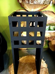 antikas Petit brasero en design moderne–Panier de fer comme Camp Fire de jardin avec bois–Brasero décoratif