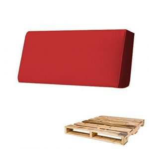 Arketicom Coussin Pallett-One pour canapé en palettes Différentes tailles et couleurs pour intérieur/extérieur, fabriqué en Italie 80x30x15 Rosso Chiaro