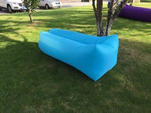 Chaise longue gonflable Canapé Chaise longue de plage avec sac de transport Air Canapé gonflable Canapé lit piscine flotteur pour intérieur/extérieur randonnée Camping, plage, parc, jardin étanche durable