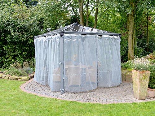 Chalet et Jardin – 12-805804 – Moustiquaires pour Tonnelle Polyester – Gris – 360 x 217 cm – Set de 2