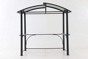 Couleurs du Monde – Pergola barbecue en aluminium/acier L2.4xl1.5xH2.35m toiture polycarbonate.