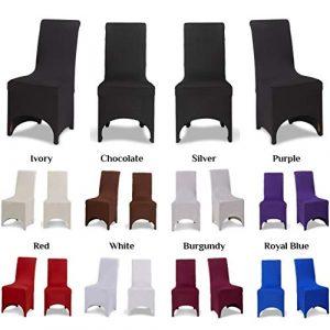 Covering All Occasions Housse de chaise pour salle à manger Arcade sur l'avant Blanc/noir/ivoire/beige