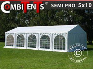 Dancover Tente de réception 3 en 1 Semi Pro Plus CombiTents Blanc 5 x 10 m