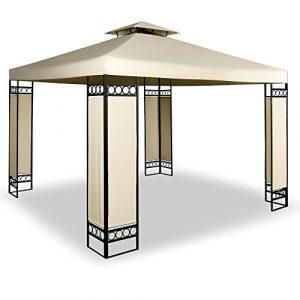Deuba Tonnelle Barnum 3x3m Lorca – Tente de Reception Jardin & Ventilation – Crème