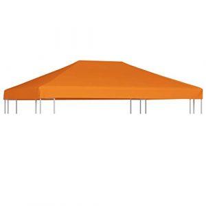 FAMIROSA Toile supérieure de belvédère 310 g/m² 4 x 3 m Orange