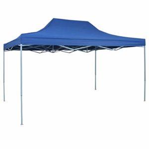 Festnight Pavillon de Jardin Tente de Reception pour Jardin fête | Tente de réception Pliable Professionnelle 3×4 m Acier Bleu