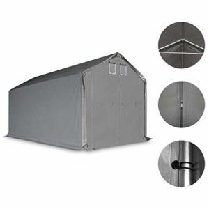 Festnight Tente de Rangement Tente de Camping PVC 4 x 8 m Gris