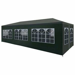Festnight- Tente de Reception Tente de Jardin chapiteau Jardin Résistance aux UV et à l'eau tonnelle 3 x 9 m Vert