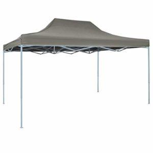 Festnight Tonnelle Pliante imperméable   Tente de réception Pliable 3×4 m Acier Anthracite