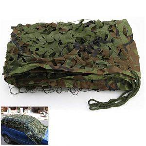 Filet de camouflage camouflage extérieur, Woodland Camouflage Filet Ombre 2x3m Abri De Voiture Décoration De Jardin Vie Privée Oxford Balcon Balcon Terrasse Écran Solaire Armée Camo Netting Photograph