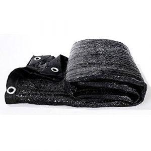Filet de masquage Tissu d'ombrage Noir avec Oeillets, 22 Tailles (Color : Black, Size : 3X9M)