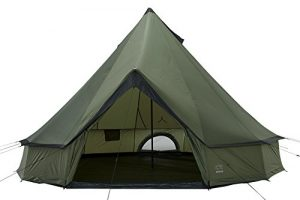 GRAND CANYON Indiana – Tente ronde (8personnes), olive/noire, 602006
