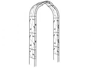 HAFIX Arche de Rose XXXL – Treillis pour rosiers grimpants Cadre Rose Rang Cadre XXL Rose Arc (Paris)