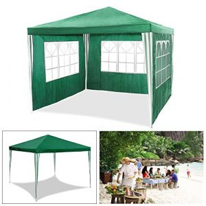 HG® 3 x 3 m Jardin Tonnelle Tente Stabilepartyzelte étanche Jardin Camping tente SG tubes d'acier stable de haute qualité Chapiteau vert