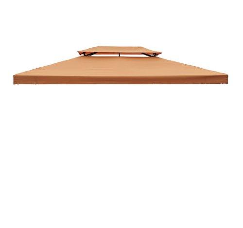 Homcom Toile de rechange pour pavillon tonnelle tente 3 x 4 m orange terracotta