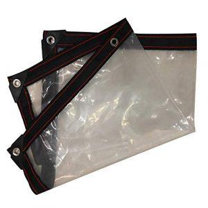 Imperméable, résistant à l'air et au Vent, Anti-UV, 17 Dimensions, Clear, 1X1M