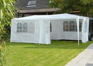 Lifetime Garden réception 3 x 6 m, 18 m² -6 parrois latérales: 6 avec fenêtre-à Utiliser comme pavillon, pergola, Tente de Jardin, chapiteau ou tonnelle, Weiss