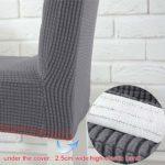 LUOLLOVE Housses de chaises, Extensible Amovible Lavable Housse de Chaise de Salle a Manger,Housse Chaise avec La Bande Élastique pour Maison(4-Pièces,Grises)