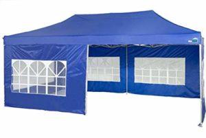 MaxxGarden Tonnelle imperméable avec Sac de Protection UV 50+ Bleu 3 x 6 m